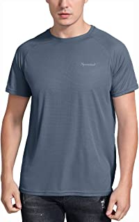 Spowind Men's Quick Dry T-Shirt Moisture Wicking Athletic Short Sleeve Shirts for Men