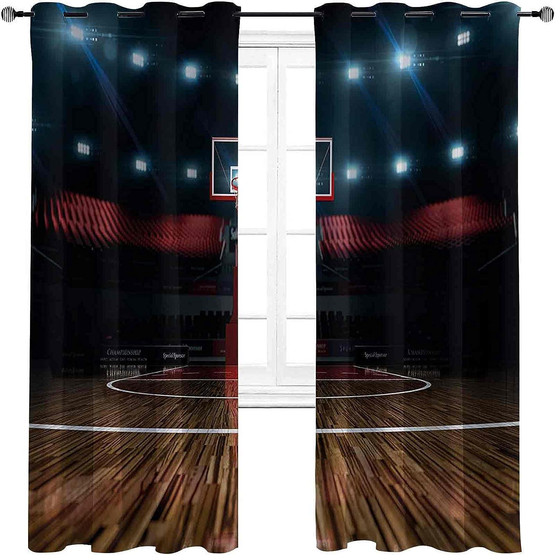 Tulsa Mall Heat Insulation Teen Room Professional Curtain Arena Basketball Daily bargain sale