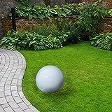 Kugelleuchte Gartenlampe Außenleuchte Gartenleuchte Kugellampe Marlon D20cm inkl. energiesparendes Leuchtmittelmit 13 Watt und Erdspieß. (Durchmesser 20cm)