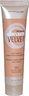2 x Maybelline New York Dream Velvet Soft Matte Foundation 30ml - 90 Honey Beige