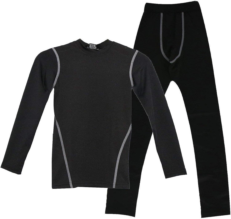 Boys Thermal Underwear Set Winter Kids Base Layer Warm Boys Long Johns Crewneck Tops & Bottoms