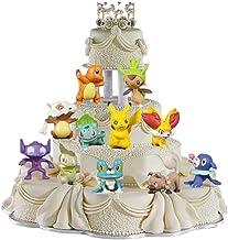 24 pièces Pokemon Cake Toppers Hanel-Pikachu Décoration De Gâteau Mini Figurines Fournitures Décoration, Mini Fête Figurin...