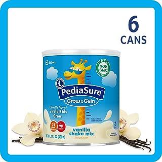 美国雅培小安素 Pediasure Grow & Gain儿童营养奶昔(2岁+) 香草味 6罐装(400g*6) (新老包装 随机发货)