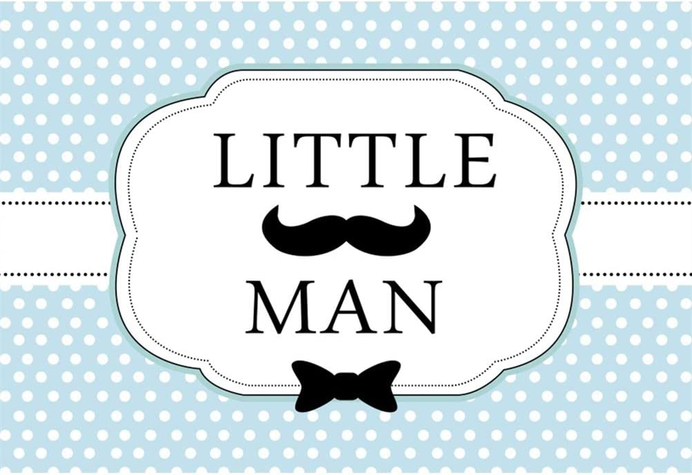 Little Man Theme Background Vinyl Baby Shower Photography Backdrop Cute Black Mustache White Vertical Striped Backdrops 10x8ft Children Kids Portraits Shoot Boys Birthday Party Banner Photo