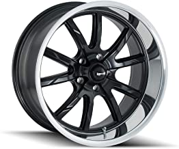 Ridler 650 (650) Matte Black/Polished Lip: 17x8 Wheel Size; 5-114.3 Lug Pattern, 83.82mm Bore, 0mm Offset.