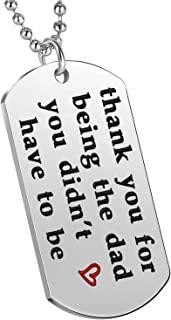 Nimteve Stepdad Gifts Thank You for Being The Dad You Didn't Have to Be Pendant Necklace Step Father Step Dad Jewelry
