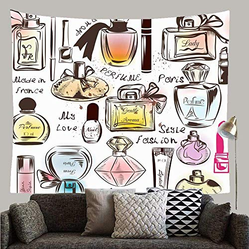 Diferentes patrones de piel rosada Perfumes Cuidado de la acuarela femenina Glamour Paris Maquillaje Manicura Tapiz personalizado Tapiz de pared Decoración de arte para dormitorio Sala de estar Dormit