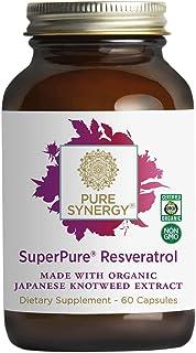 Pure Synergy SuperPure Resveratrol (60 Capsules) w/ Trans Resveratrol for Healthy Aging