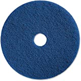 Genuine Joe Medium-Duty Scrubbing Floor Pad, Blue