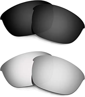 Hkuco Plus Mens Replacement Lenses For Oakley Half Jacket 2.0 Black/Titanium Sunglasses