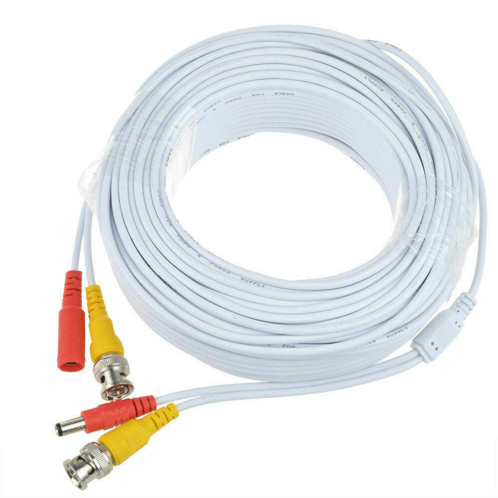 BigNewPowered White 150ft Popular brand in the world BNC Cable Cord Came Security for Selling EZVIZ