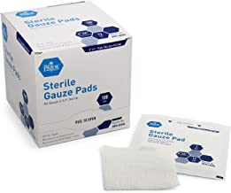 Medpride 4'' x 4'' Sterile Gauze Pads for Wound Dressing| 100-Pack, Individually Packed Pouches| 12-Ply Cotton & Highly Absorbent| Gauze Sponge-Pads for Wound Care & Home First Aid Kits