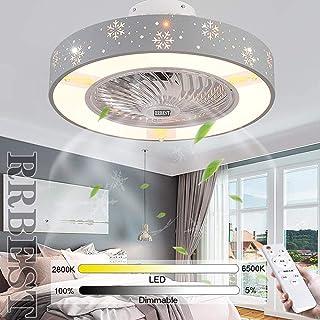 LED Ventilador De Techo Moderno 60W Fan Luz De Techo Regulable Silencioso Dormitorio Fan Lámpara De Techo Con Control Remoto Oficina Sala De Niños Ventilador Lámpara Con Iluminación (1#)