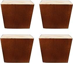 DIY-kastvervangingsvoeten, vierkante meubelsteunpoten x4, banksteunpoten, gebruikt voor kasten, salontafels, banken, tv-ka...
