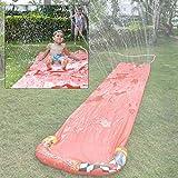Single Lawn Water Slide for Kids Backyard,16.4ft Summer Backyard Lawn Slip Slide Play
