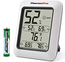 ThermoPro TP50 digitales Thermo-Hygrometer Innen Thermometer Hygrometer Temperatur und Luftfeuchtigkeitsmesser für Raumklimakontrolle Raumluftüerwachtung Klima Monitor