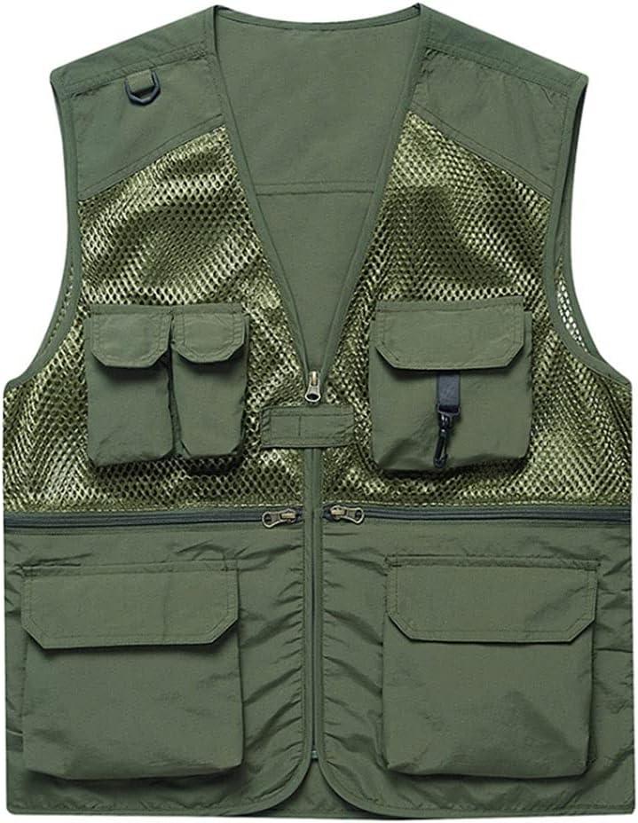 Alternative dealer Fishing Vests for Men Vest Multi-Pocket Safety and trust Photography