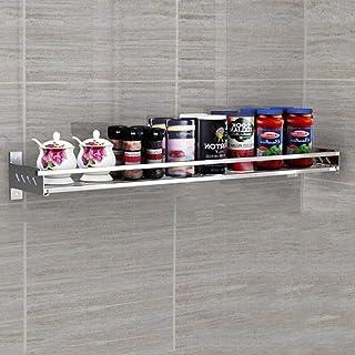 Storage rack. Étagère de Cuisine Étagère à épices en Acier Inoxydable 304 Murale Pendentif de Rangement Multifonction pour...