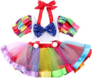 Baby Girls Bowknot Crop Tops + Suspender Tutu Skirt Dress Party Outfits Clothes