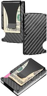 RFID Minimalist Card Holder Wallet – RFID Slim Carbon Fiber Wallet with Cash Clip
