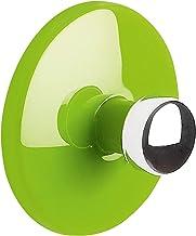 """Spirella Handdoekhaak, zelfklevend, badkamer en keuken, """"bowl"""", handdoekhouder, kleerhaak zonder boren, Ø5 cm, groen"""