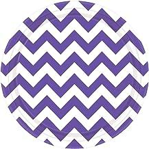 Purple Chevron Round Plates Value