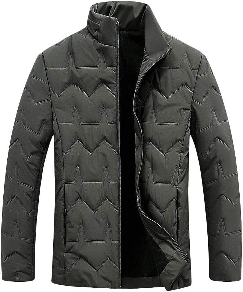 Lightweight Down Jacket Men NRUTUP Puffer Jacket Winter Coats Hoodless Slim Fit Parka Jacket Work Casual Outerwear