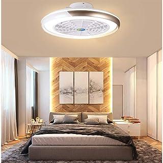 Ventilador De Techo Integrado SMG Actualizado Con Conveniente Control Remoto Y Luces LED, Motor Moderno, Inteligente Y Silencioso, 3 Velocidades 3 Colores, Atenuación Continua,Marrón