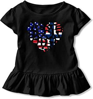 HYBDX9T Little Girls Boxer Dog Funny Short Sleeve Cotton T Shirts Basic Tops Tee Clothes