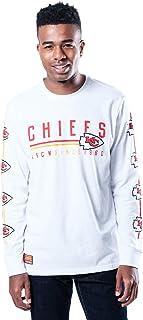 Ultra Game NFL Kansas City Chiefs Mens Active Basic Long Sleeve Tee Shirt, Team Color, Medium White
