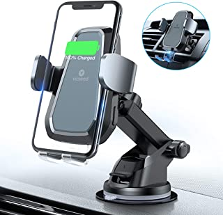 VICSEED Qi Wireless Car Charger, 10W Fast Wireless Charger Car Mount, Auto-Clamping Dashboard & Vent Phone Holder Fit for iPhone 11 Pro Max Xs Xr X 8, Fit for Samsung Note 10 9 S20 S10 S9 Plus LG etc.