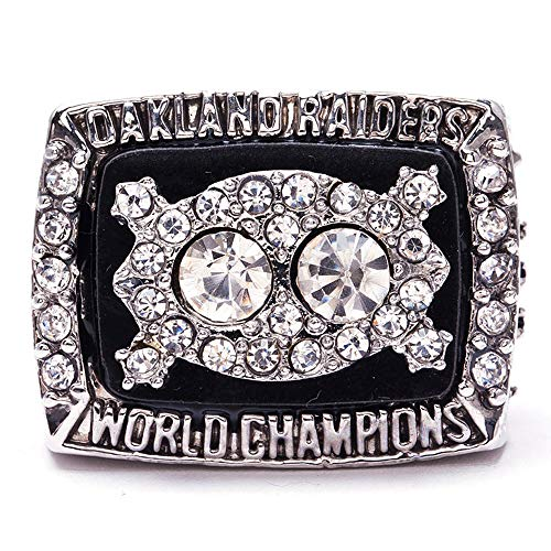 Super Bowl 1966 - 2019 Replica Championship Ring (Size 11) New England Patriots Philadelphia Eagles Denver Broncos Chicago Bears Seattle Seahawks Green Bay Packers (Size 11, 1980 Oakland Raiders)
