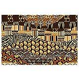 DLJIYZX Felpudo Estilo Africano Patchwork Alfombrillas de Entrada PVC Antideslizante Alfombra de pie Alfombra de Cocina Alfombra de baño Alfombra 40X60CM