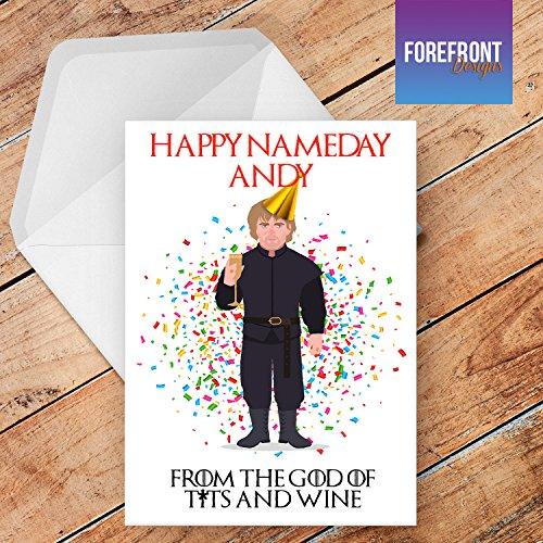 Geburtstagskarte mit lustigem Game of Thrones inspiriertem Lannister, A5, personalisierbar
