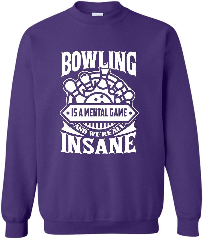 Bowling is A Mental Game Trust Crewneck Sweatshirts Sweatshirt Popularity Gift