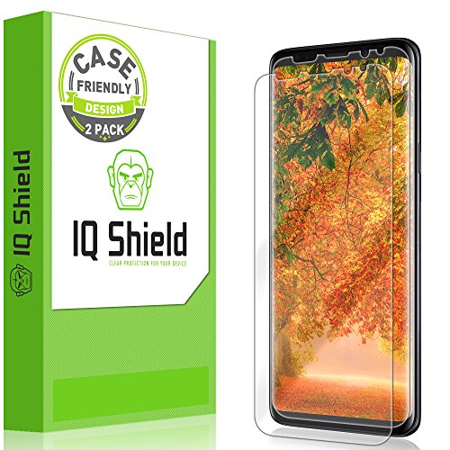 IQ Shield Screen Protector Compatible with Samsung Galaxy S9 Plus (2-Pack)(Case Friendly Version 2) LiquidSkin Anti-Bubble Clear Film