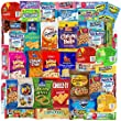 Blue Ribbon Care Package 45 Count Ultimate Sampler Mixed Bars, Cookies, Chips, Candy Snacks Box for Office, Meetings, Schools,Friends & Family, Military,College, Halloween, Father's Day Gift Basket