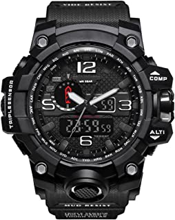 Bounabay Men's Military Digital Sport Watch Water Resistant Outdoor LED Back Light Display
