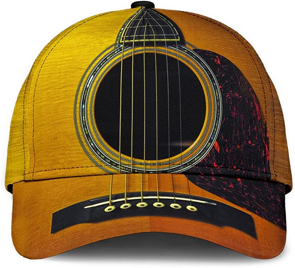 Customized 5 ☆ very popular Max 75% OFF Name 3D Printed Cap Hat Gift Guitar Classic Text