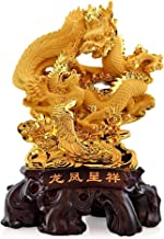 Statue Decoration Feng Shui Phoenix and Dragon Statue Best Home Decor Living Room TV Cabinet Wine Cabinet Decorations Budd...