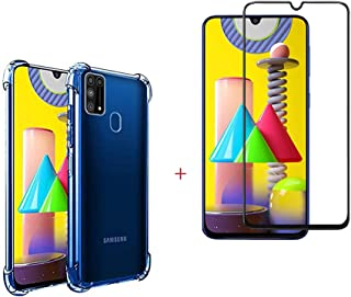 Crystal Clear Case Compatible with Samsung Galaxy M31 Case+ Screen Protector for M31 [Shock-Absorbing] [Scratch-Resistant]...