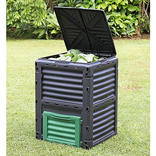 Large Garden Composter Bin Organic Waste Compost Converter Eco Friendly - 300L, Flat Packed