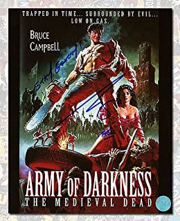 Bruce Campbell Autographed Ash Army of Darkness Movie Poster 8x10 Photo - Authentic Autographed Autograph