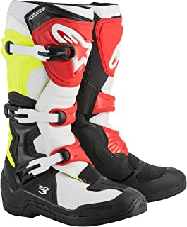 Alpinestars Tech 3 Boots-Black/White/Yellow/Red-10