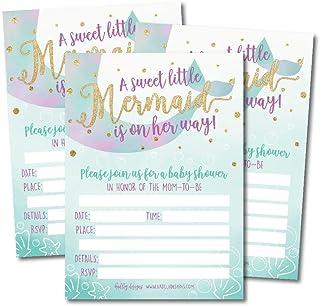 photograph relating to Printable Mermaid Baby Shower Invitations named : mermaid child shower invites