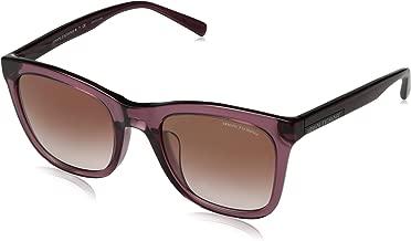 A|X Armani Exchange Women's AX4082SF Square Asian Fit Sunglasses