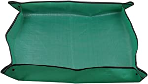WINGOFFLY Portabe Indoor Plant Repotting Transplanting Tidy Square Mat(Green)