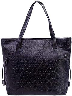 Ladies Handbag Skull Bag Fashion Tote Bag Vintage Embossed Shoulder Bag Tote Bag