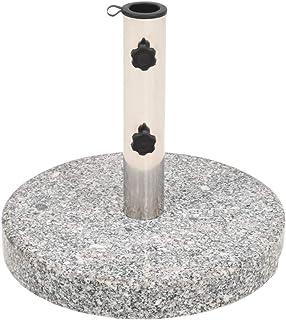 vidaXL Parasol Base Granite Round 22 kg Outdoor Patio Umbrella Stand Holder