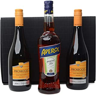 1x Aperol Spritz 0,7l 11% vol 2 Flaschen Prosecco 0,75L im Geschenk Karton Aperitif